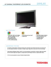 toshiba 20hl85 manual usermanual com rh usermanual com 6.5Hp Tecumseh Engine Manual For Toshiba TV Manuals