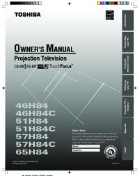 Toshiba 46H84 51H84 57H84 Manual - usermanual com
