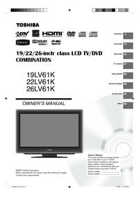 Toshiba 19LV61K 22LV61K 26LV61K Manual - usermanual com