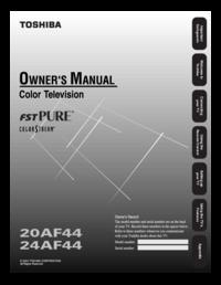 Toshiba 20af44 24af44 Manual Usermanual Com