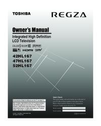 toshiba 42hl167 47hl167 52hl167 manual usermanual com rh usermanual com Toshiba 42HL167 Specs toshiba model 42hl167 manual