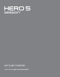 Gopro Hero5 Session Quick Start Guide Usermanual Com