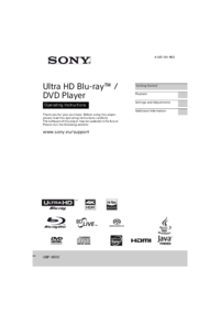 Sony UBP-X800 Manual - usermanual com