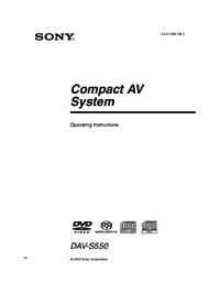 Sony DAV-S550 Manual - usermanual com